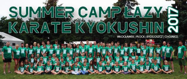 LETNI OBÓZ KARATE KYOKUSHIN, 14-24 lipca 2018 ŁAZY .